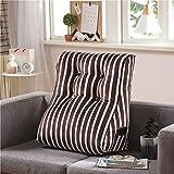 LSQ Cuscino Tatami Triangolo Cuscino Tridimensionale Cuscino per Auto Cuscino per la Vita con Supporto Lombare per Ufficio,Brown,55 * 60CM
