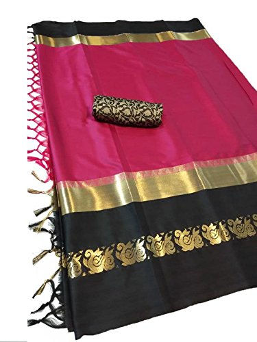 Fashionesta Cotton Silk Saree(AURAPINK_Pink_Free Size)