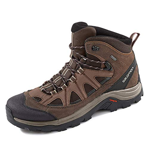 Salomon Herren Wanderschuhe, AUTHENTIC LTR GTX, Farbe: braun/schwarz (Black Coffee/Chocolate Brown/Vintage Kaki) Größe: EU 45 1/3