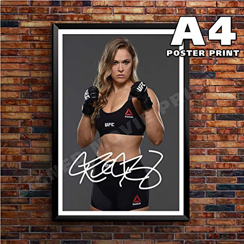 A4 RONDA ROUSEY UFC MMA MIXED MARTIAL ARTIST SIGNED for sale  Delivered anywhere in UK