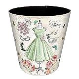 Seciie Seciie Papierkörbe, 10L Papierkorb Kinder Mülleimer Wasserdicht Leder Papierkörbe Dekorativ für Kinderzimmer, Büro, Küche