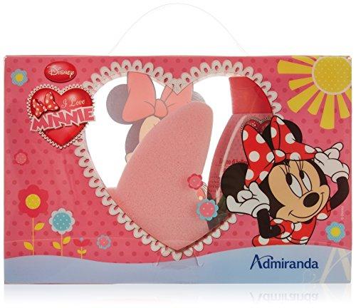 Disney Minnie Geschenkset-Badeschaum, Schwamm in Schleifenform, 1er Pack (1 x 2 Stück)