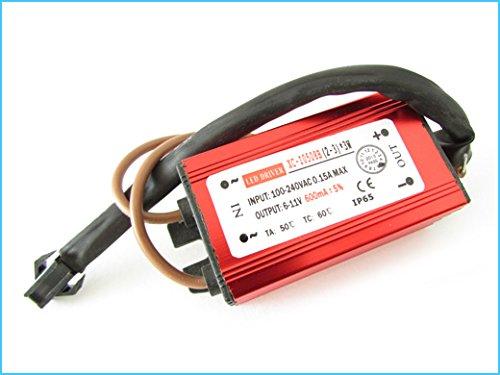 Led Driver CC Impermeabile IP67 600mA 6V-11VDC (2-3)x3W Trasformatore Alimentatore Corrente Costante 9W