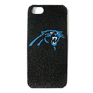 Unlimited Cellular NFL Glitz Case for iPhone 5/5S (Full Diamond Crystal Carolina Panthers)