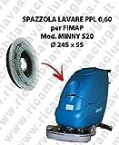 Gomma tergipavimento anteriore per lavapavimenti FIMAP modello Minny 420