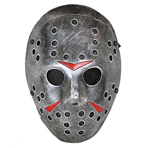Kostüme Familie 3 Halloween Für Ideen (ccoway Kostüm Prop, Jason Voorhees Maske für Freddy Hockey Festival, Halloween, Party, Cosplay und mehr Carbon)