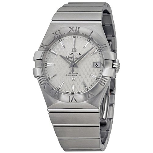 OMEGA Men's 35mm Steel Bracelet & Case Automatic Silver-Tone Dial Analog Watch 123.10.35.20.02.002