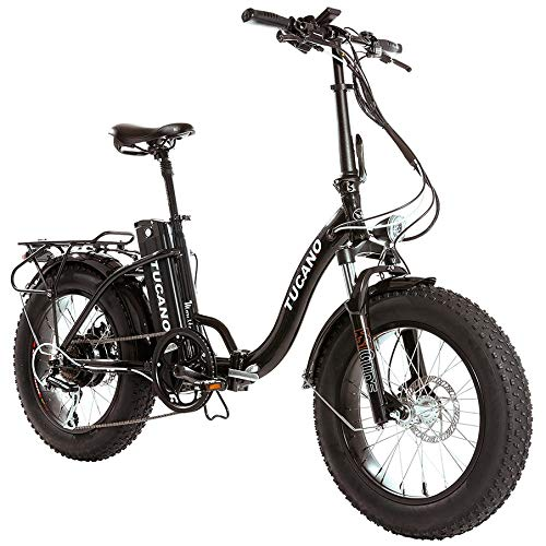 Monster 20″ LOW-e-e-- e-Bike Plegable - Suspensión Delantera - Motor 500W (Antracita)