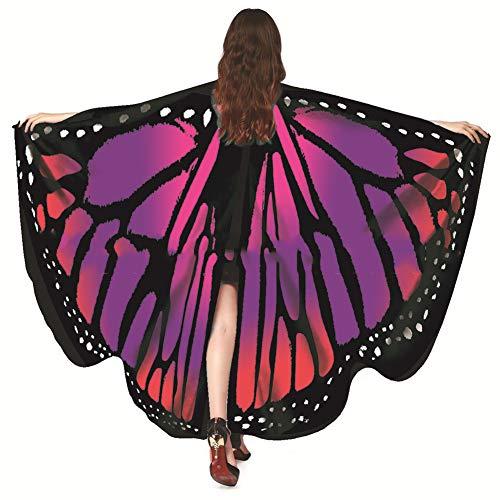 Göttin Samt Kostüm - Schmetterlingsflügel Schal, Damen Schmetterling Flügel Schals