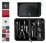 Drei Schwerter | Exklusives 12-teiliges Maniküre - Pediküre - Nagel - Pflege-Set / Etui | Qualität - Made in Solingen | VERSCHIEDENE DESIGNS (520500)