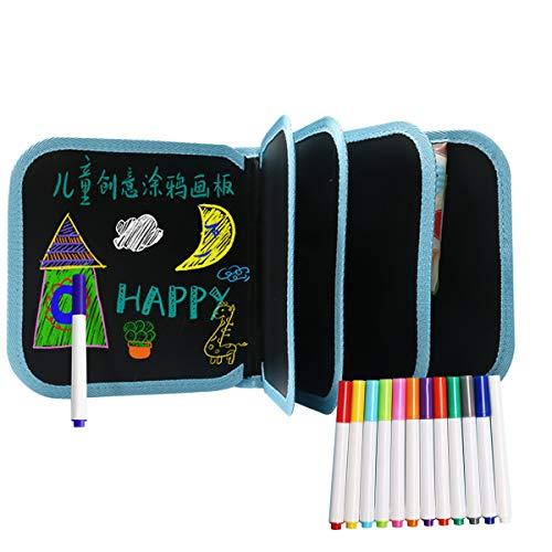 JINGYD Tavolo da Disegno per Bambini - Lavagna Pratica Riutilizzabile Lavagna da 20 cm14 Pagina 12 Pennelli per Colori - Il miglior Regalo per la Festa dei Bambini