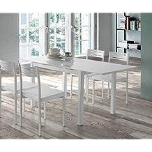 Amazon.es: mesa comedor cristal extensible