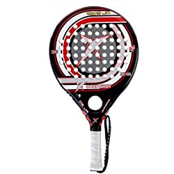 Drop Shot Virtus Jr - Pala de pádel unisex, color rojo / negro / blanco