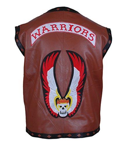 F&H Men's The Warriors Movie Genuine Leather Vest brown
