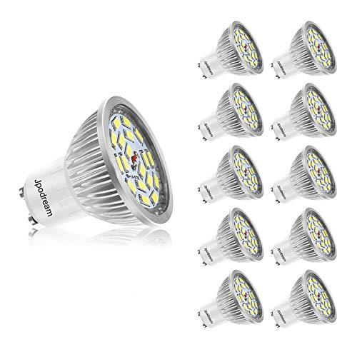 Ampoule LED GU10, 7W 550LM Spot LED, Équivalente 60W Ampoule Halogène, Blanc Froid 6000K, AC85-265V, 140° Larges Faisceaux, Ampoule Réflecteur LED by Jpodream - Lot de 10