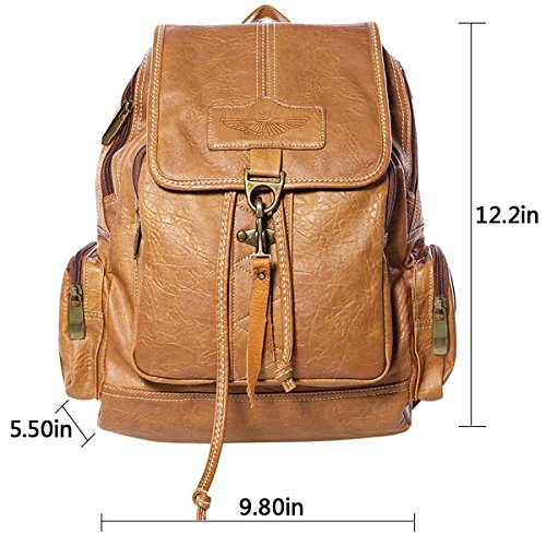 Imagen de  mujer,coofit vintage pu cuero bolso  escolar daypacks alternativa