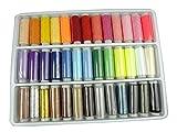 Fils à Coudre, LIHAO Bobines de 39 pièces Fils à couture Colorés en Polyester