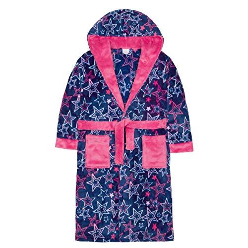 Style It Up - Bata - niña Navy/Pink Stars Robe -