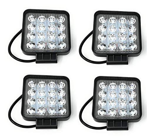 Tempo di Saldi® - Faros cuadrados de trabajo, 16 LED, faros de...