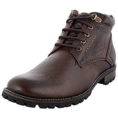 Zohran Men Leather Boots (Brown)