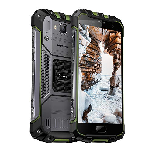 Ulefone Armor 2S Outdoor Smartphone ohne Vertrag (5 Zoll FHD Display mit Corning Glas 3, 2GB RAM 16GB ROM, Wassdichte Kameras, Dual Nano SIM Android 7.0) Grün Outdoor-dual-band-antenne