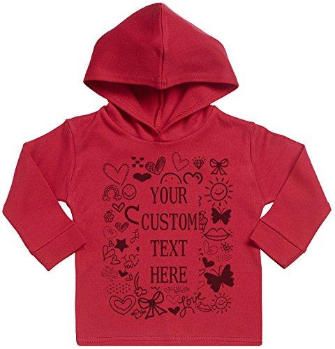 SR - Personalised Framed Custom Print Cotton Baby Hoodie - Personalised Baby Gift - Personalised Baby Clothing