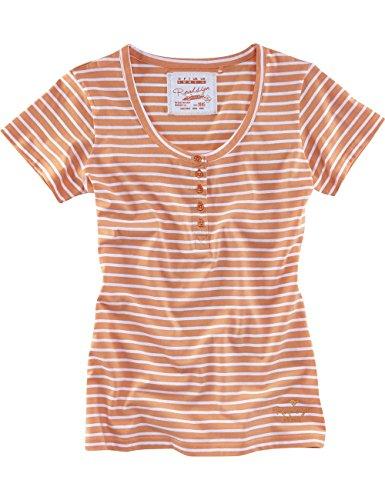 Rose Damen Henley (ROADSIGN australia Streifen Henley Shirt