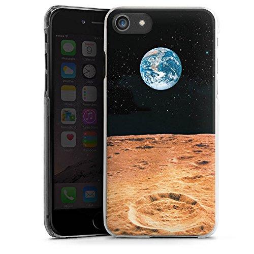 Apple iPhone X Silikon Hülle Case Schutzhülle Erde Mond Moon View Hard Case transparent