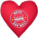 Die besten In der Welt Shirts - Lustiger Kissen in Herzform: Stempel: Beste Mama der Bewertungen