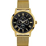 Guess Watches Men's Guess Men's Gold-Black Watch