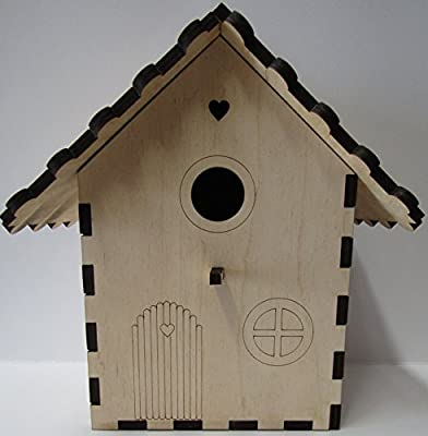 Fairy Garden Birdhouse - 'Build Your Own' Bird Nestbox Craft Kit, Wildlife & Woodcraft Gift & Project Kit from Alchemy Engraving