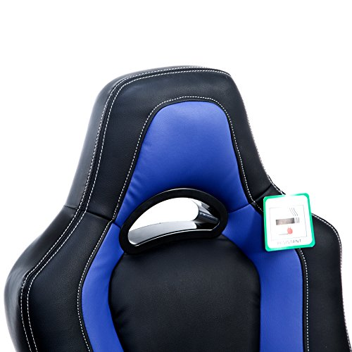 Brand New Designed Racing Sport Swivel Office chair (Black & Blue)