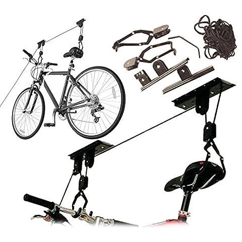 20kg Capacity Bike Bicycle Space Saving Garage Storage Lift Pulley