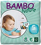Bamboo Nature Junior Diaper, 12-22 kg/Size 5 (27 Count, Standard)