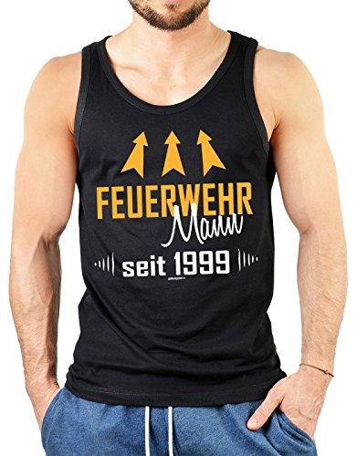18 Jahre Lustige Spruche Fun Muskel Shirt Feuerwehr Mann Seit 1999