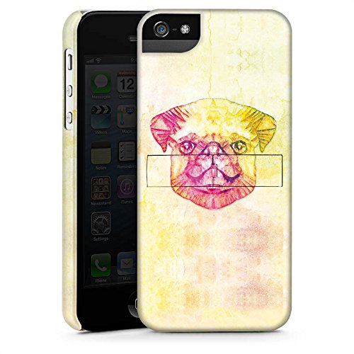 Apple iPhone X Silikon Hülle Case Schutzhülle Mops Dog Hund Premium Case StandUp