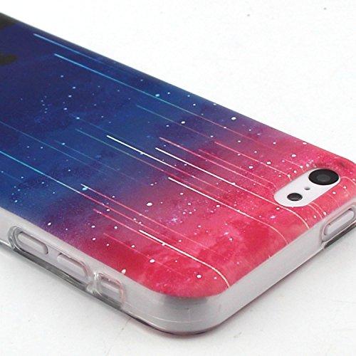 Voguecase® Pour Apple iPhone 6/6S 4.7, TPU Silicone Shell Housse Coque Étui Case Cover (Chat/ECG)+ Gratuit stylet l'écran aléatoire universelle météore 01