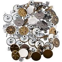 Case&Cover 50 Piezas/Set de 17 mm Dril de algodón del botón del Metal Calcetines Botón de Metal Broche de presión sin Fisuras