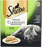 Sheba Terrines Classiques Barquettes pour Chat Adulte Coffret Traiteur 12x85g - Pack de 6