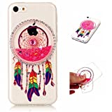 iPhone 5C Case Cover MUTOUREN TPU Silicone Liquid Cover Stylish 3D Creative Red Dreamcatcher Design Quicksand Glitter Clear Crystal Gel Rubber Bumper Protective Transparent Ultra Thin Gel clear crystal Exact Fit protective cover anti scratch shock resistant shell-quicksand dreamcatcher 03