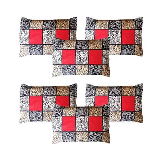 Amrange Cotton 6 Piece Set Designer Pillow Covers,Size-17'' x 27''