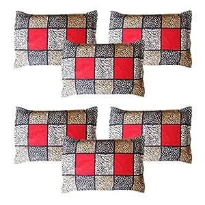 Amrange Cotton 152TC 6 Pillow Covers ( King, Multicolour)