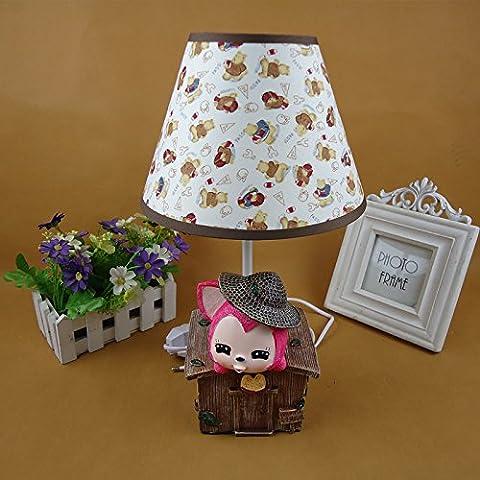 Grado carino doll lampada aromaterapia al posto letto camera da letto decorata lampada da tavolo interruttore di comando doni creativi , rosso