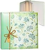Unbekannt XL Fotoalbum -  edel - Blüten & Blumenranken - grün  - Gebunden zum Einkleben - blanko weiß - groß - 100 Seiten für bis zu 600 Bilder - 10x15 - Gästealbum /..