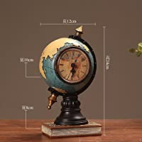 FGHHJ Ornaments Statues Decorations Creative Retro Telephone Set Personality Clock European Style Living Room Tv Cabinet Internet Cafe Bar Decoration, Phone Silver