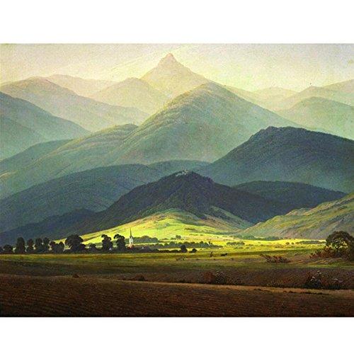älde, Erwachsene 's Malen nach Zahlen Kits, Acryl Gemälde High Mountain 40,6x 50,8cm, Framed Canvas (Einfach Die Farbe Durch Zahl)