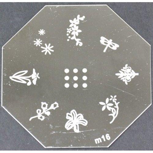 Nail Art emboutissage des tôles - M01 CODE : M16-plaque