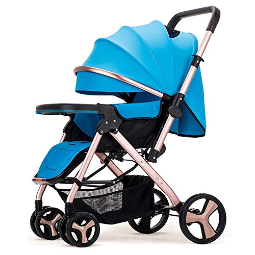 3 in 1 carrozzina e passeggino pieghevole anti-shock passeggino multi funzioni carrozzina combinato 3 in 1,blue