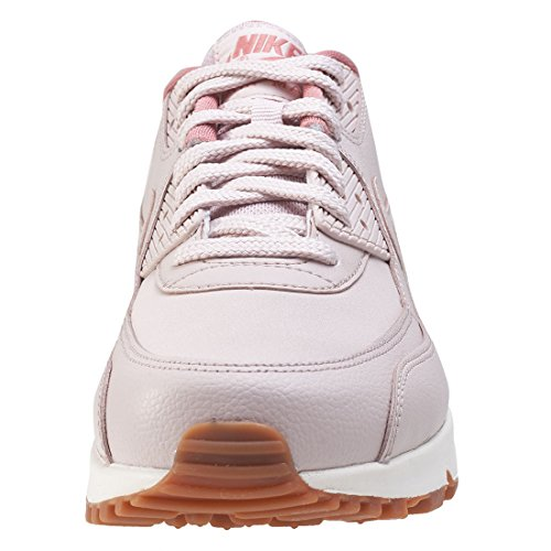 Nike Air max 90 leather 921304600, Scarpe sportive sild red-silt red-red stardust-sail-gum med brown