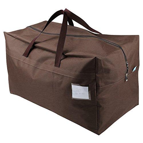 Spesso tessuto di Oxford Borsa di stoccaggio per Move House Keeping, Go-to-School, l'abbigliamento bagagli, Consolatore organizzatore, Borse decorazione di festival bagagli, Brown